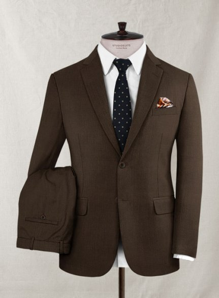 Zegna Faido Brown Wool Suit