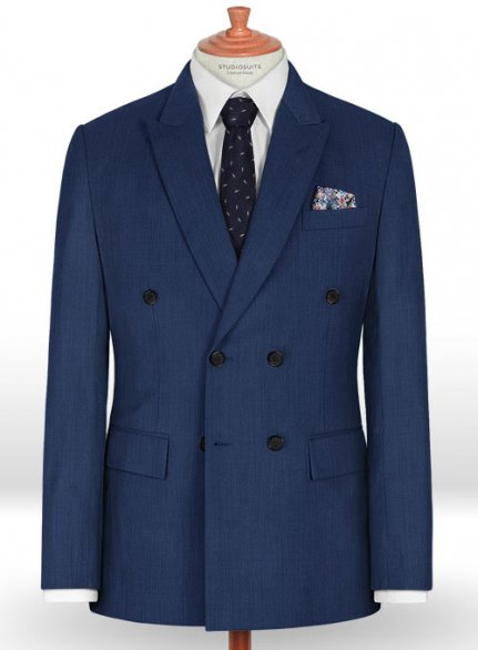 Napolean Persian Blue Wool Jacket