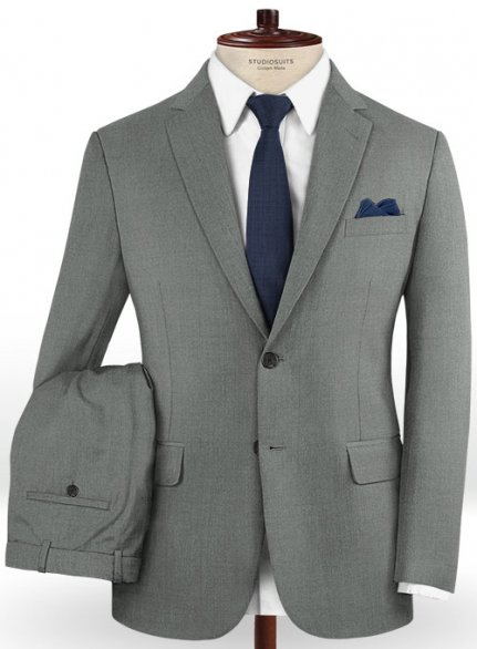 Reda Chief Gray Pure Wool Suit