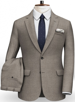 Napolean Flat Gray Wool Suit