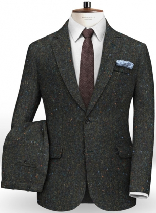 Caccioppoli Donegal Dark Green Tweed Suit