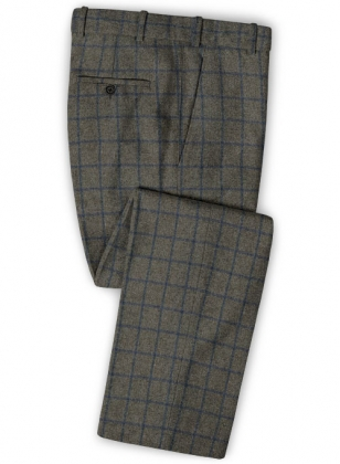 Ford Gray Blue Tweed Pants