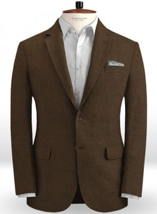 Safari Brown Cotton Linen Jacket
