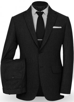 Light Weight Black Stripe Tweed Suit