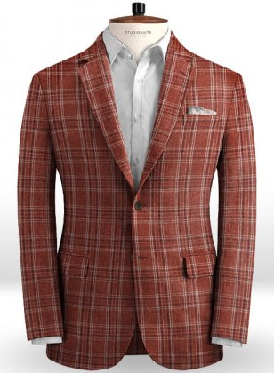Solbiati Wine Square Linen Jacket