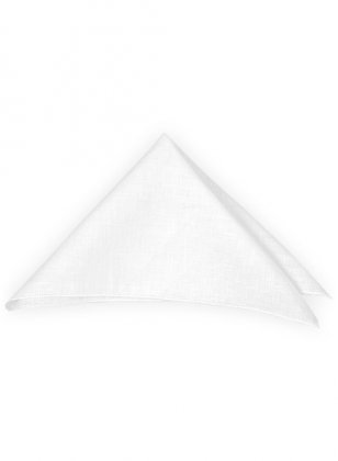 Linen Pocket Square - Pure White