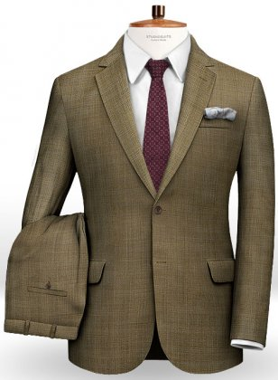 Huddersfield Brown Glen Pure Wool Suit