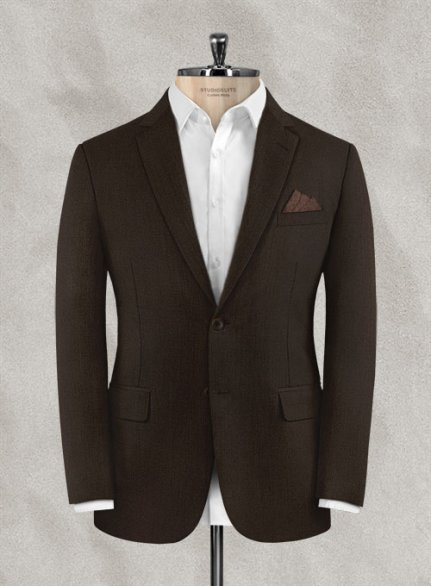 Zegna Armato Brown Wool Jacket