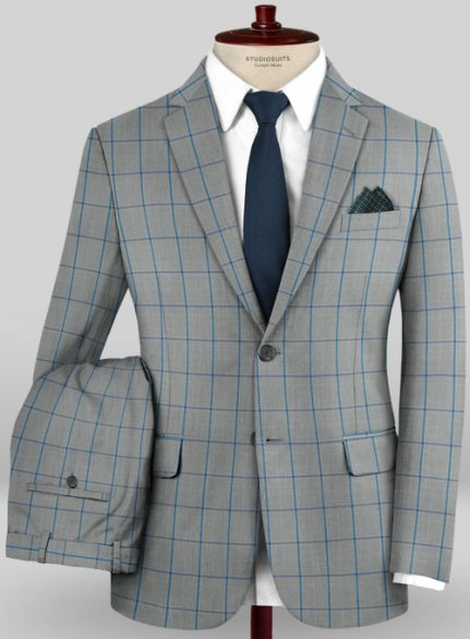 Scabal Mosaic Ciatto Gray Wool Suit