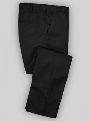 Washed Black Chinos