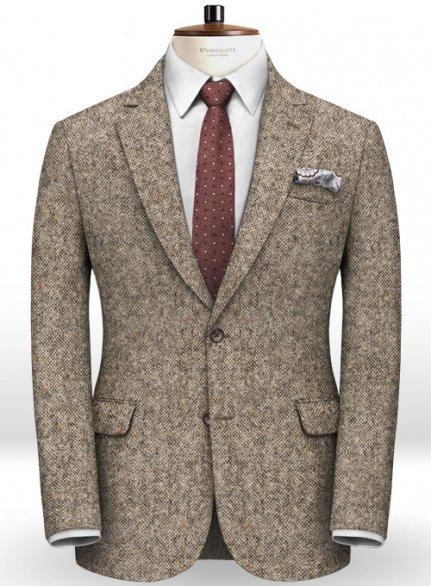 Caccioppoli Donegal Light Brown Tweed Jacket