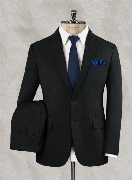 Zegna Camen Gray Checks Wool Suit