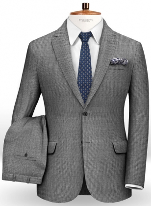Birdseye Wool Light Gray Suit