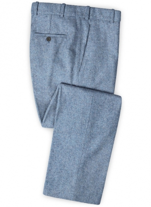 Tom Blue Tweed Pants
