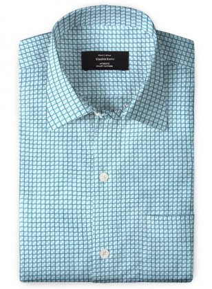 Giza Polo Blue Cotton Shirt