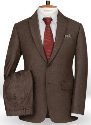Brown Flannel Wool Suit