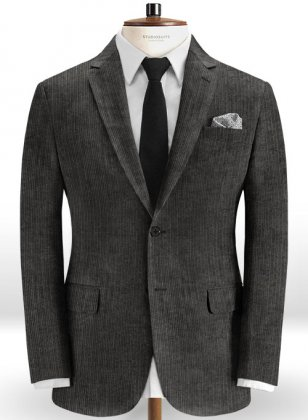 Dark Gray Thick Corduroy Jacket