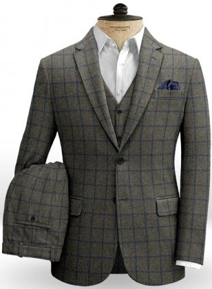 Ford Gray Blue Tweed Suit