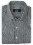 Classic Gray Pinstripe Cotton Shirt - Full Sleeves