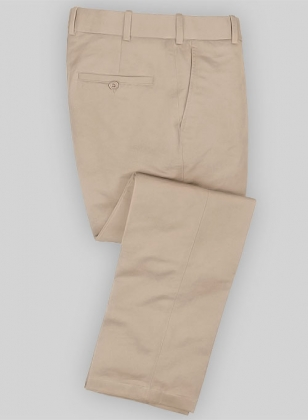 Twillino Fawn Tailored Chinos