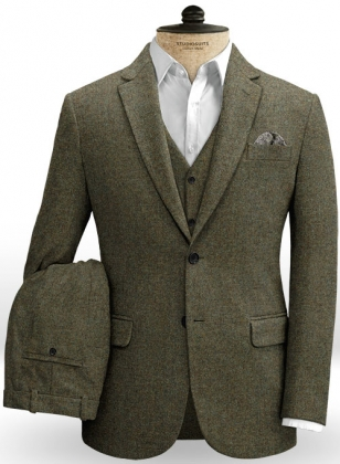 Showman Green Tweed Suit