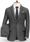 Dogtooth Wool Gray Suit