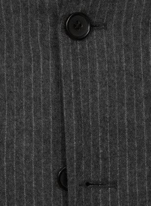 Light Weight Charcoal Stripe Tweed Suit- Ready Size