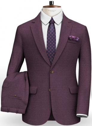 Napolean Purple Wool Suit