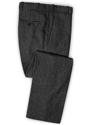 Stone Charcoal Tweed Pants