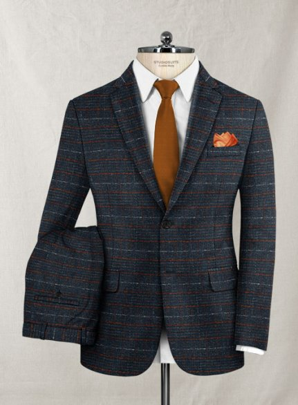 Italian Wool Cotton Stretch Oiata Suit