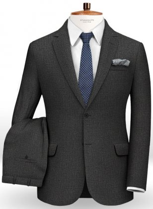 Pinhead Wool Dark Gray Suit