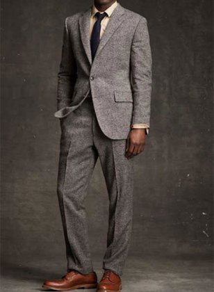 Pure Wool Tweed Suit - Pre Set Sizes - Quick Order