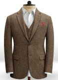 Rust Herringbone Tweed Jacket