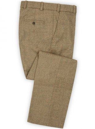 Light Weight Melange Brown Tweed Pants