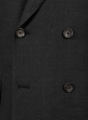 Huddersfield Dk Charcoal Pure Wool Double Breasted Blazer
