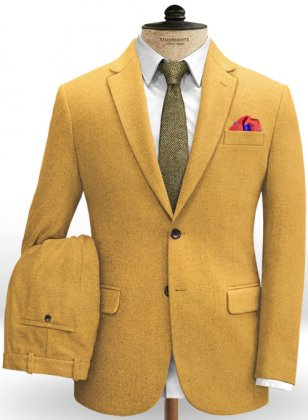 Naples Yellow Tweed Suit