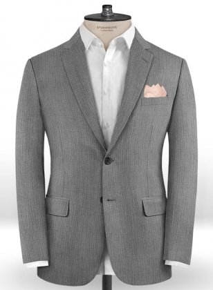 Scabal Zoter Gray Wool Jacket