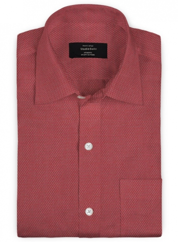 Giza Quartz Maroon Cotton Shirt