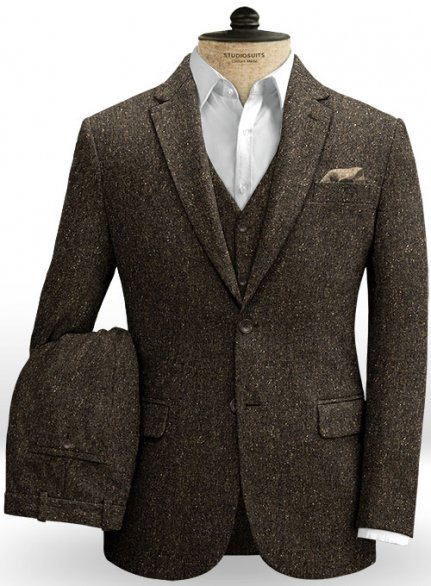 Brown Flecks Donegal Tweed Suit