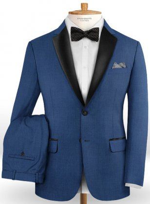 Napolean Dino Royal Blue Wool Tuxedo Suit