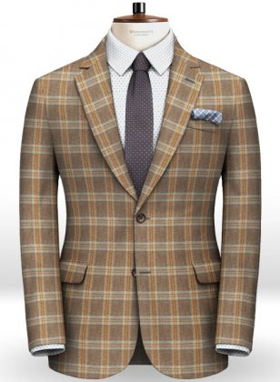 Parma Brown Feather Tweed Jacket