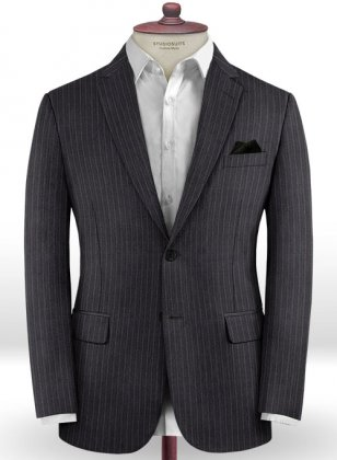 Scabal Olmo Charcoal Wool Jacket
