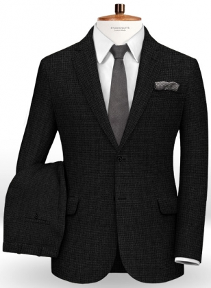 Pinhead Wool Black Suit