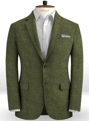 Solbiati Dew Green Linen Jacket