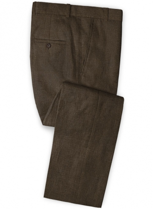 Pure Rich Brown Linen Pants