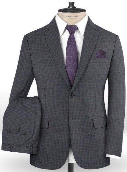 Reda Wateri Gray Wool Suit