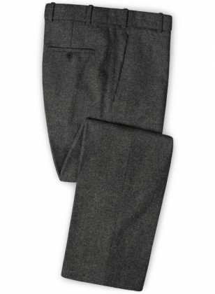 Light Weight Charcoal Tweed Pants