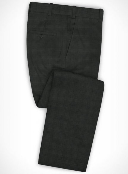 Cotton Stretch Accri Dark Gray Pants