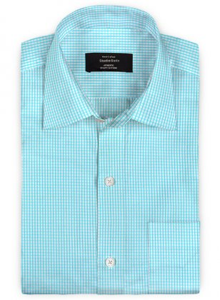 Giza Prince Blue Cotton Shirt