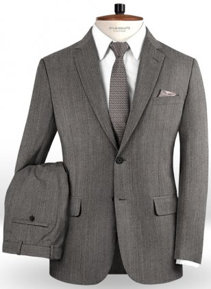 Omega Light Gray Pure Wool Suit